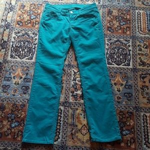 Ann Taylor turquoise cord jeans size 2P